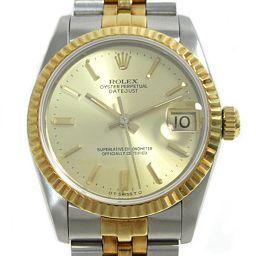 ROLEX ロレックス デイトジャスト 腕時計 ウォッチ ユニセックス 68273 ゴールド ステンレススチール(