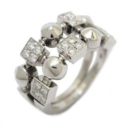 BVLGARI ブルガリ ルチア ダイヤモンドリング 2ロウ 指輪 AN851958 クリアー K18WG(750
