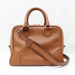 LOEWE Loewe Amazona 75 2way Shoulder Bag 301.30.L03 Brown × Silver Hardware Cowhide (