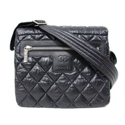 CHANEL Chanel Coco Cocoon Shoulder Bag Black Nylon × Leather [Used] [Rank A] Rede