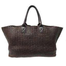 BOTTEGA VENETA Hippo GM Intrechart Tote Bag 113129 Brown