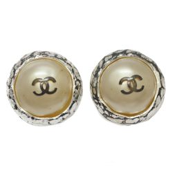 CHANEL Chanel Fake Pearl Earring 98P White x Silver Fake Pearl x Plating [Used] [