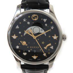 GUCCI グッチ Gタイムレス メンズ腕時計 YA1264045 ブラック ステンレススチール(SS) /レザー