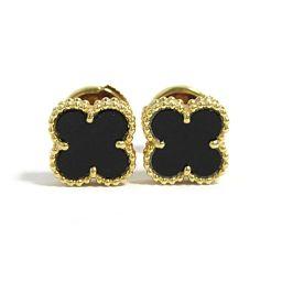 Van Cleef & Arpels Van Cleef & Arpels Sweet Alhambra Earrings Black K18Y