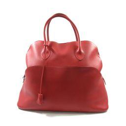 HERMES Hermes Bollido Relax 45 Handbag Rougevifu Vossikkim □ J Engraved [Used] [Used]