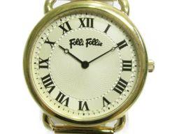 Folli Follie フォリフォリ 腕時計 ウォッチ  ゴールド ステンレススチール(SS) 【中古】【ランク