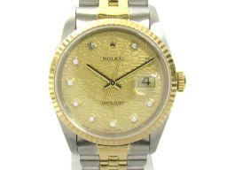 ROLEX ロレックス デイトジャスト 彫りコンピューター文字盤 ウォッチ 腕時計 16233G/96年 ゴールド