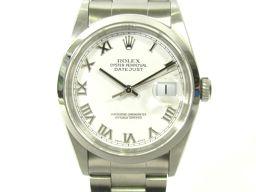 ROLEX ロレックス デイトジャスト ウォッチ 腕時計 16200 ホワイト ステンレススチール(SS) 【中古
