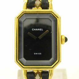 CHANEL シャネル プルミエールM ウォッチ 腕時計 ブラックXゴールド XレザーXGP 【中古】【ランクB】
