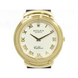 ROLEX ロレックス チェリーニ 腕時計 ウォッチ ゴールドXブラック K18YG(750)イエローゴールド X