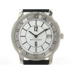 BVLGARI ブルガリ ソロテンポ 腕時計 ウォッチ ST35S ホワイトXブラック ステンレススチール(SS)