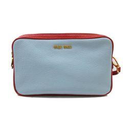 miu miu Miu Miu Shoulder Bag 5BH539 Blue X Red Leather [Used] [Rank A] Lady