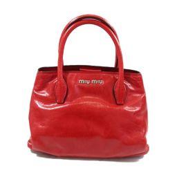 miu miu Miu Miu 2way shoulder bag handbag RN1069 red leather [pre] [run]