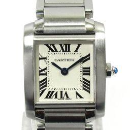 Cartier カルティエ タンクフランセーズSM レディースウォッチ 腕時計 W51008Q3 シルバー ステン