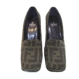 FENDI Fendi Pumps Khaki x Dark Brown Because of no material notation, unknown [Used] [Rank A] Ladies