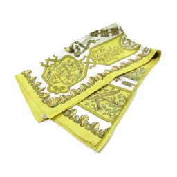 HERMES Hermes Carre 90 Scarf Yellow X White Silk [Used] [Rank A] Ladies