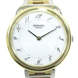 HERMES Hermes Arseau watch watch men's silver X gold stainless steel (SS) X