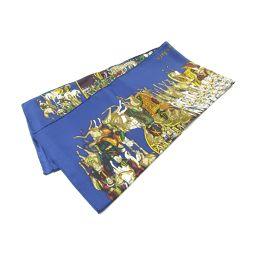 HERMES Hermes Carre 90 Scarf Blue X Multi Silk [Used] [Rank A] Ladies