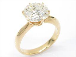 JEWELRY ジュエリー ダイヤモンドリング 指輪 クリアー K18YG(750) イエローゴールド xダイヤモ