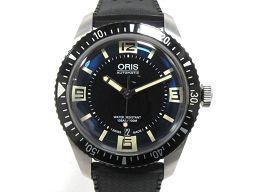 ORIS オリス ダイバーズ65 腕時計 ウォッチ 7707 ブラック ステンレススチール(SS) xラバーベルト
