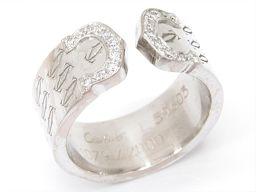 Cartier カルティエ C2 リング 指輪 クリアー K18WG(750) ホワイトゴールド xダイヤモンド(