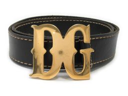 Dolce & Gabbana ドルチェ&ガッバーナ ベルト ブラック レザー 【中古】【ランクA】 メンズ