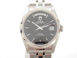 TUDOR チュードル プリンスデイトデイ 腕時計 ウォッチ 76214 ブラック K18WG(750)ホワイトゴ
