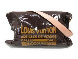 LOUIS VUITTON ルイヴィトン ブザス ショルダーバッグ M93188 ブラウン エナメル 【中古】【ラ