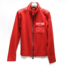 MONCLER モンクレール GRENOBLE フリースジャケット レッド ポリエステル(94%)xポリウレタン(