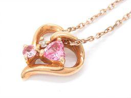 4℃ ヨンドシー ダイヤモンドネックレス ピンク K18PG(750) ピンクゴールド xダイヤモンド(石目なし)