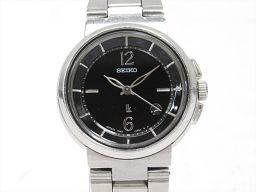 SEIKO セイコー ルキア 腕時計 ウォッチ 7N82-6E00 ブラック ステンレススチール(SS) 【中古】