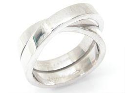Cartier カルティエ エスプリ・ド・パリ リング 指輪 シルバー K18WG(750) ホワイトゴールド 【