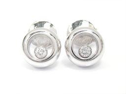 Chopard ショパール ハッピーダイヤモンドピアス 83/2904 クリアー K18WG(750) ホワイトゴ