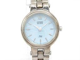 CITIZEN シチズン エコドライブ 腕時計 ウォッチ E030-K16521 ブルー メタル 【中古】【ランク
