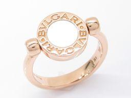 BVLGARI ブルガリ フリップリング 指輪 ブラック K18PG(750) ピンクゴールド xシェルxオニキス