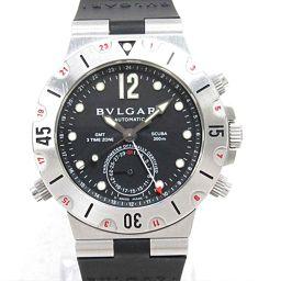 BVLGARI ブルガリ ディアゴノ スクーバGMT 腕時計 ウォッチ SD38SGMT ブラック ステンレススチ