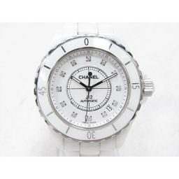 CHANEL シャネル J12 12Pダイヤ 腕時計 ウォッチ H1629 ホワイト セラミック 【中古】【ランク