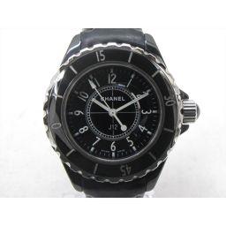 CHANEL シャネル J12 腕時計 ウォッチ H0680 ブラック レザーベルト 【中古】【ランクB】 レディ