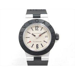 BVLGARI ブルガリ アルミニウム 腕時計 ウォッチ AL29A アイボリー アルミニウムxラバーベルト 【中