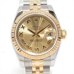 ROLEX ロレックス デイトジャスト 腕時計 ウォッチ 179173 ゴールド ステンレススチール(SS) xK