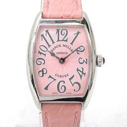 FRANCK MULLER フランク・ミュラー トノーカーベックス 腕時計 ウォッチ 1752QZ ピンク ステン
