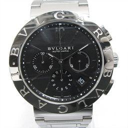 BVLGARI ブルガリ ブルガリブルガリ クロノグラフ 腕時計 ウォッチ BB42SSCH ブラック ステンレス