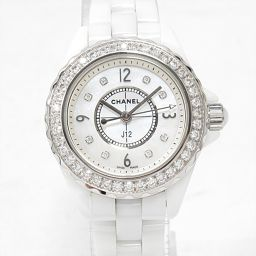CHANEL シャネル J12 腕時計 ウォッチ H2572 ホワイト セラミックxダイヤモンド 【中古】【ランク