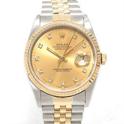 ROLEX ロレックス デイトジャスト 腕時計 ウォッチ 16233G ゴールド ステンレススチール(SS) xK