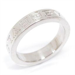 BVLGARI ブルガリ ダブルロゴ ダイヤモンドリング 指輪 クリアー K18WG(750) ホワイトゴールド