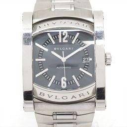 BVLGARI ブルガリ アショーマ 腕時計 ウォッチ AA48S グレー ステンレススチール(SS) 【中古】【