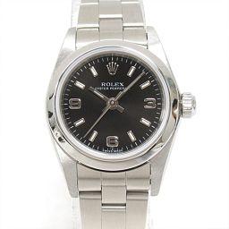 ROLEX ロレックス オイスター パーペチュアル 腕時計 ウォッチ 76080 ブラック ステンレススチール(S