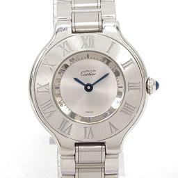 Cartier カルティエ マスト21 腕時計 ウォッチ 1340 シルバー ステンレススチール(SS) 【中古】