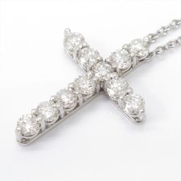 TIFFANY&CO ティファニー クロス ダイヤモンド ネックレス シルバー PT950 プラチナ xダイヤモン