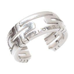 BVLGARI ブルガリ パレンテシリング 指輪 シルバー K18WG(750) ホワイトゴールド 【中古】【ラン